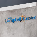 Image of outdoor sign for The Campbell Center